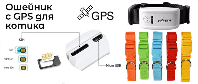Кошачий GPS ошейник