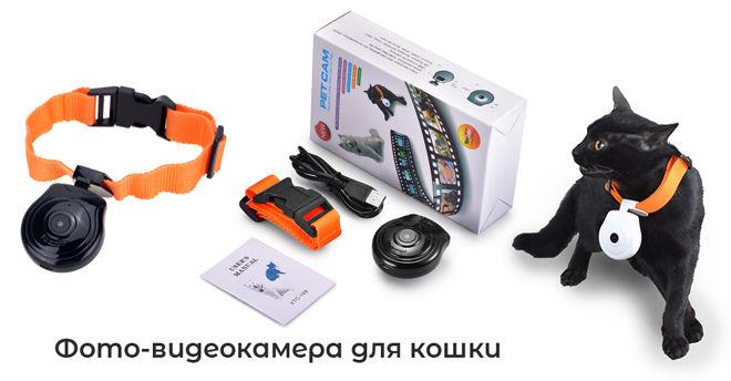 Камера для фото и видеосъёмки на кошачий ошейник