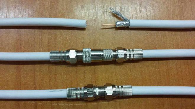 Порядок соединения кабеля через переходник