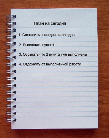 картинка список дел на сегодня
