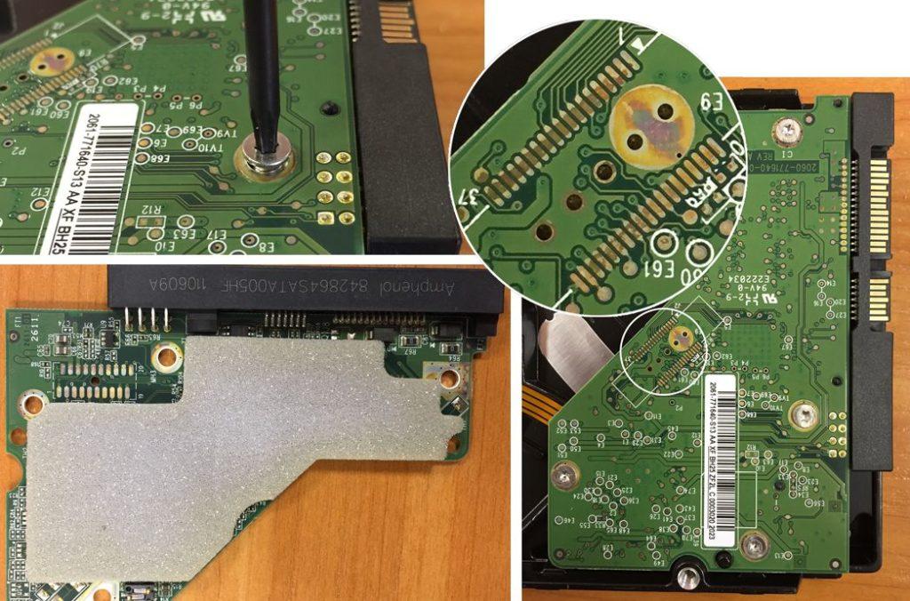 Разбираем HDD для очистки