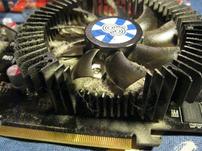 Пыльный радиатор видеокарты