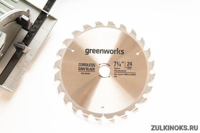 Обзор циркулярной пилы Greenworks GD24CS